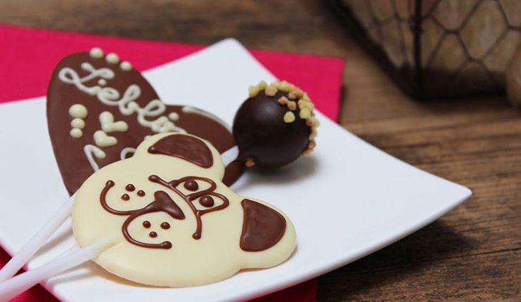 Schoko-Lollipop Bär