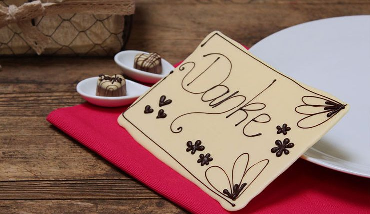 """Einfach mal """"Danke"""" sagen - mit handgemachter Schokolade"""